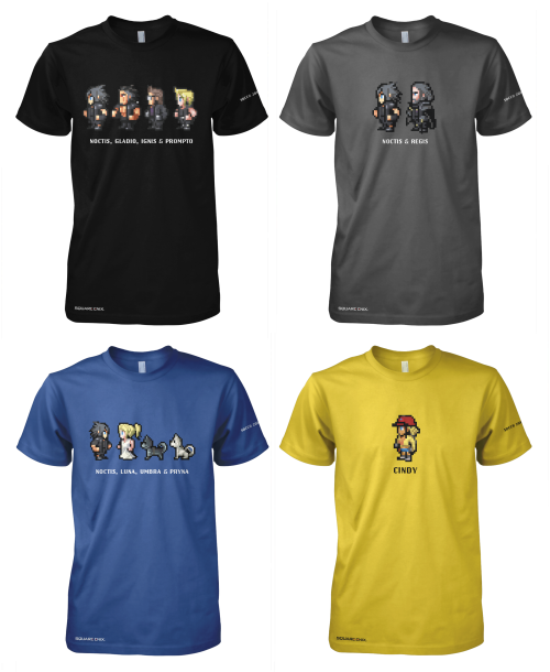 Final Fantasy XV:  Comic-Con T-Shirts